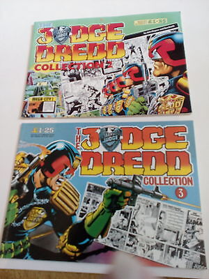 judge dredd, two comic books