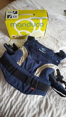 Manduca baby carrier, navy blue, excellent condition