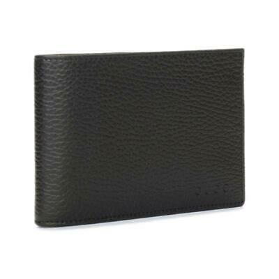 1824d6058d0 Gucci Men s Black Dollar Calf Leather Bifold Coin Pocket Embossed Gucci  Wallet