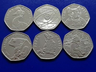 Circulated Various Rare Commemorative Coins 50p  Beatrix  Newton Paddington