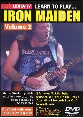 Lick Library LEARN TO PLAY IRON MAIDEN Style Dave Murray Guitar Lesson Video DVD