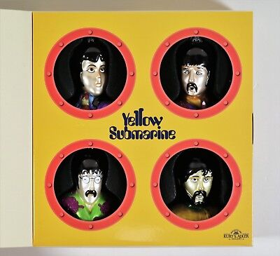 The Beatles Yellow Submarine Deluxe Glass Ornament Set (663)