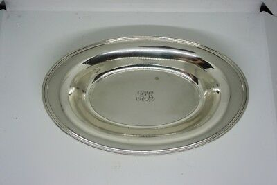 Tiffany & Co Sterling Silver Oval Serving Platter - 20601 Makers 3598 (12.2 Oz)
