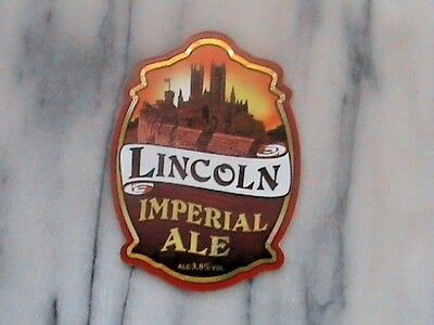 Wentworth Lincoln Imperial Ale real ale beer pump clip sign