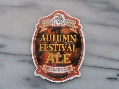 Wentworth Autumn Festival Ale real ale beer pump clip sign