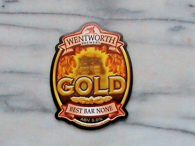 Wentworth Gold real ale beer pump clip sign