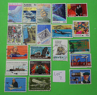 Vintage Bulk Lot 20 Australian Decimal Stamp Mixed Group Used 1970's - Lot7 1218