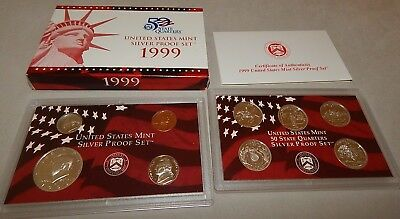 1999-S Silver US  United States Mint Proof Set w/ State Quarters