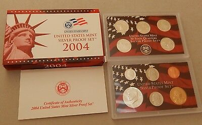 2004-S Silver US  United States Mint Proof Set w/ State Quarters