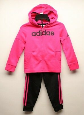 Adidas Girl's 2 Piece Track Suit Set Colors/Sizes Vary