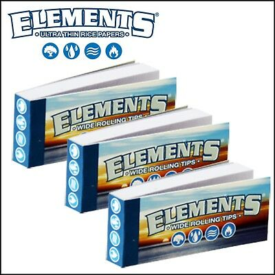 Elements Wide Rolling Filter Tips Roach Chlorine & Chemical Free x3