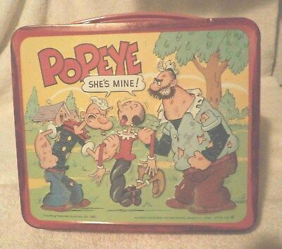 1980, POPEYE lunch box & /thermas. Super clean condition.
