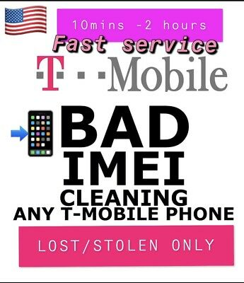 Usa Tmobile Bad Esn Imei Removal Service Iphone/samsung Lost/stolen Only 5M-1 Hr
