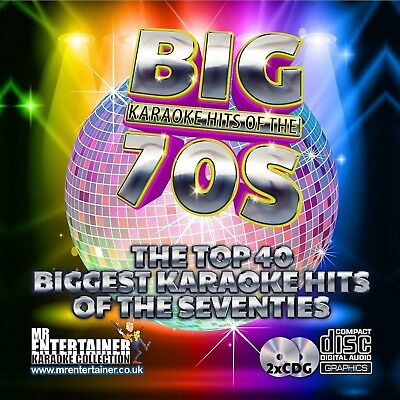 70's Karaoke. Mr Entertainer Big Hits Double CD+G/CDG Disc Set. Seventies
