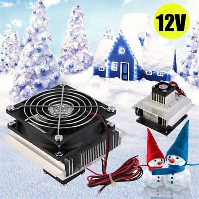 12V 60W Thermoelectric Peltier Refrigeration Cooling System Kit Cooler Fan AD