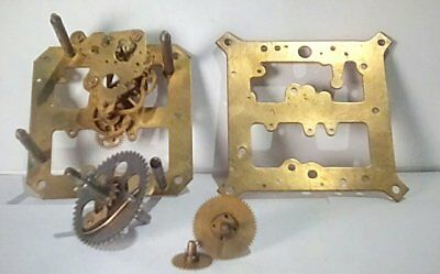 Antique/Vintage Time Only Spring Balance Clock Movement - Parts or Repair