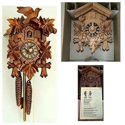 Original German Black Forest Bird Mechanical Walnut Cuckoo Clock