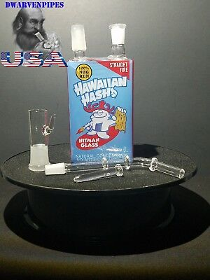 Collectible Tobacco Glass Water Pipe Bong Bubbler Hookah Juice Box - Hawaiian