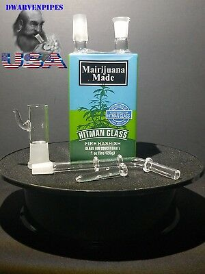 Collectible Tobacco Glass Water Pipe Bong Bubbler Hookah Juice Box - M Made