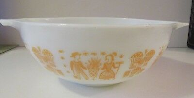 VINTAGE PYREX ORANGE AMISH BUTTERPRINT CINDERELLA MIXING BOWL 444 4 Qt