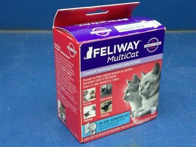 Feliway MultiCat 30 Day Starter Kit for Cats - Plug-In Diffuser & Refill 48 ml