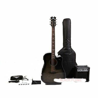 Keith Urban Acoustic-Electric Ripcord Guitar Package With Amp Rich Black Flame