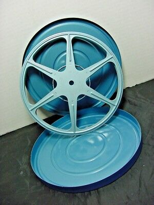 Vintage Authentic Scherer 8mm Reel W/ Can great condition for prop or home decor