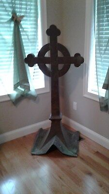 "Rare Antique Roof Church Copper Cross 5 Feet Tall   Hand Crafted  "" L@@K """