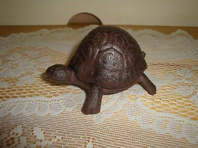 Cute Small Cast Iron Turtle Hide A Key Holder
