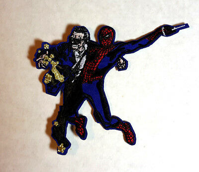 """#3 Stan Lee w Spider-Man Memorial Souvenir Embroidered Patch 3.5"""" Tall"""