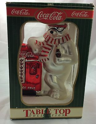 Coca Cola Table Top Mercury Glass Christmas Polar Bear Figurine