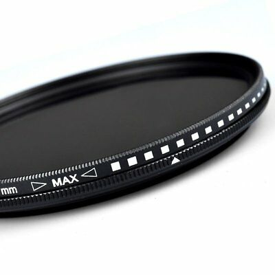 ZOMEI 52/55/58/62/67/72/77/82 Adjustable Neutral Density Fader filter ND2-400 VB