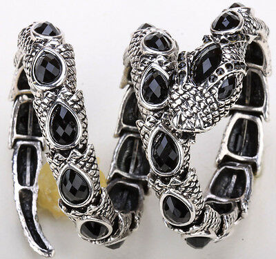 Stretch snake bangle bracelet fashion jewelry antique black QA32 gift for women