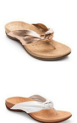 125a425f5692 Vionic Rest Pippa Women s Knotted Thong Toe Flip Flop Strappy Leather  Sandals