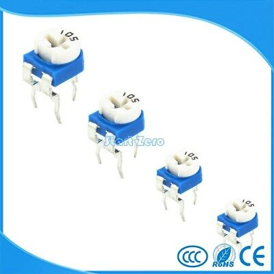 50PCS RM065 100R~2M ohm Trimmer Potentiometer RM 065 Blue White Trimmer Resistor
