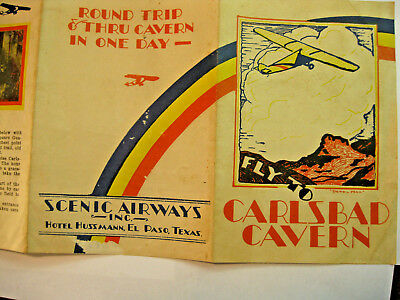 Vintage travel brochure by Scenic Airways, Inc. for Carlsbad Cavern