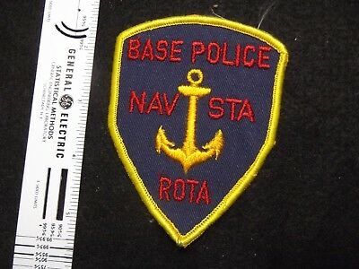 Federal Naval Base Rota Spain Navy DOD Defense Police MAA defunct cheesecloth