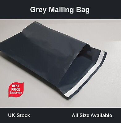 Grey Poly Mailing POST Mail Postal BAGS  POSTAGE SELF SEAL All SIZE Cheap Strong