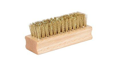 Quality Brass Shoe Brush, Handy and Portable, Wooden Handle, Durable Brass...