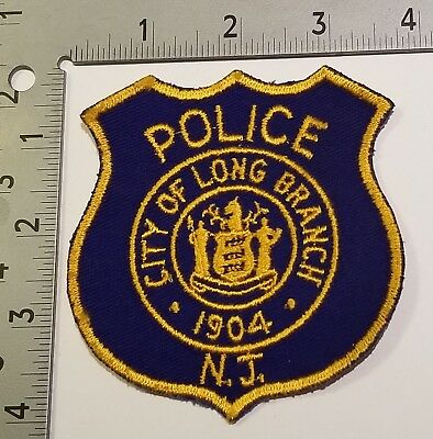 Old Long Branch Nj New Jersey Police Sheriff Marshal Lawman Patch Vintage Cloth