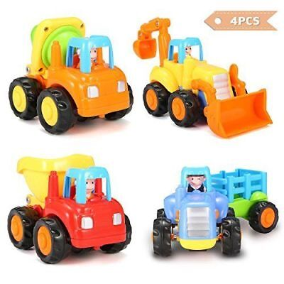 Push And Go Car, Friction Powered Vehicle Toy Set, Early Education Pull Back Car