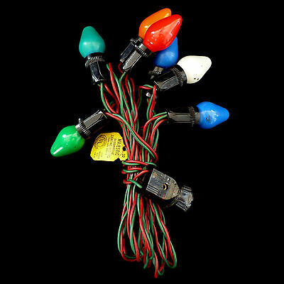 Vintage Christmas Lights / C7 Bulb / Set Of 7 Multi-Colors
