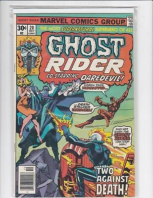 Ghost Rider vol.1 #20 newsstand - Johnny Blaze - Daredevil - Fine/Very Fine
