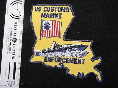 Federal Louisiana Costoms Vintage defunct agency Marine Unit rare HTF state shap