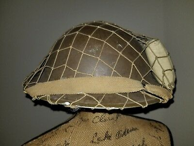 British WW2 1941 Dated Shell & Liner Original Helmet Big Size Helmet Net 7.5""