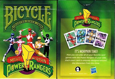 Power Rangers Bicycle Playing Cards Poker Size Deck USPCC Custom Limited Edition