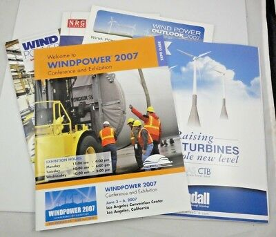 Lot Of 4 Wind Power 2007 & 2012 Special Report Brochure Leaflet Turbine