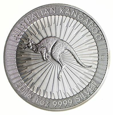 2016 Australian Kangaroo One Dollar 1 T Oz .9999 Fine Silver - Collectible *349