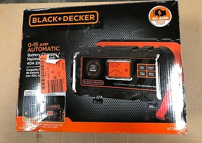 Black Decker 0-15 AMP Automatic Battery Charger 40amp New