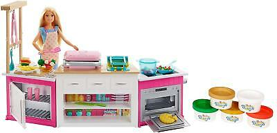Barbie Ultimate Kitchen Chef Doll Play Set Toy Cook Food Light Sounds Dough Gift